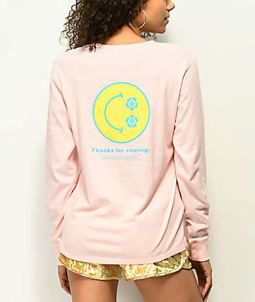 Empyre Rubino Thanks Smile Face Pink Long Sleeve T-Shirt