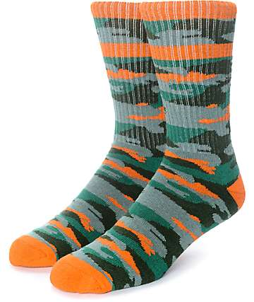 Empyre Run It calcetines en verde y color naranja