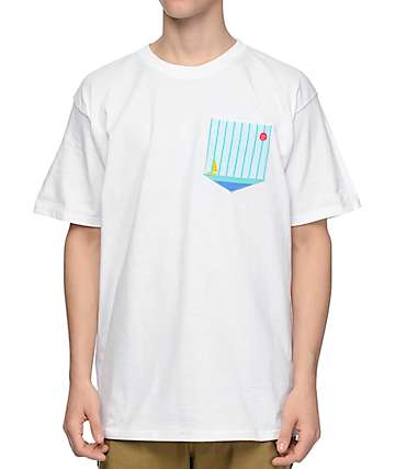 Empyre Sailboat White Pocket T-Shirt