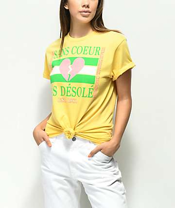 Empyre Sans Coeur Yellow Knot Front T-Shirt