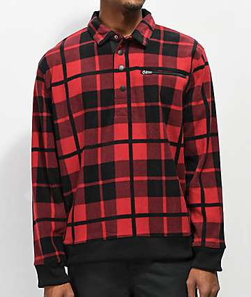 Empyre Scholar Red Plaid Pullover Fleece