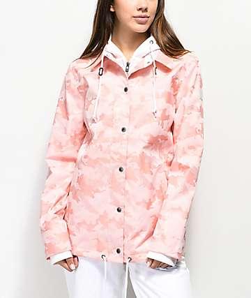 Empyre School Yard chaqueta de snowboard de camuflaje rosa de 10K