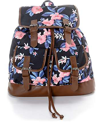 Empyre Serene Tropical Floral Rucksack Backpack