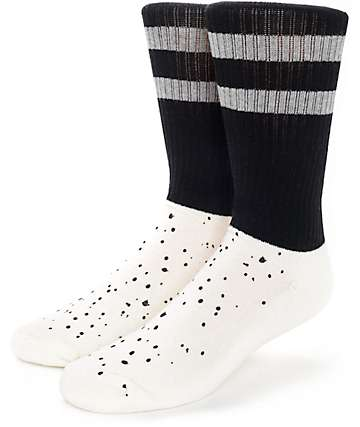 Empyre Shook Speckle Black Crew Socks