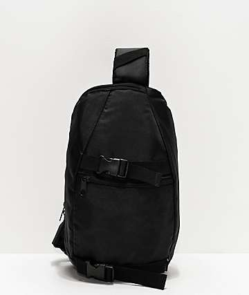 Empyre Side Peace Black Crossbody Bag