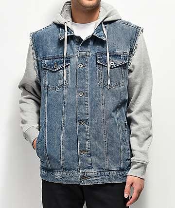 Empyre Sidecar Gray & Blue Denim Jacket