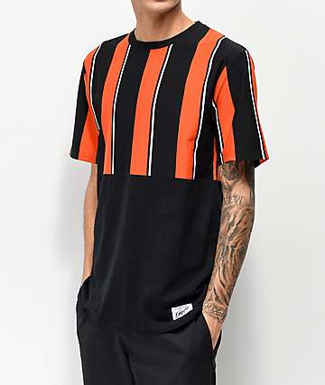 Empyre Sideline Vertical Striped Black & Red T-Shirt