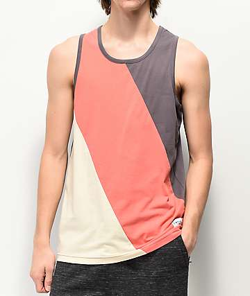 Empyre Sidetracked Diagonal Block Tank Top