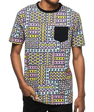 Empyre Simply Geo camiseta con bolsillo en color menta