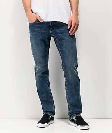 Empyre Skeletor Deluge Indigo Skinny Jeans