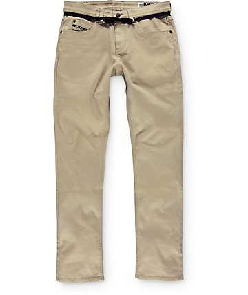 Empyre Skeletor Khaki Bedford Skinny Fit Pants