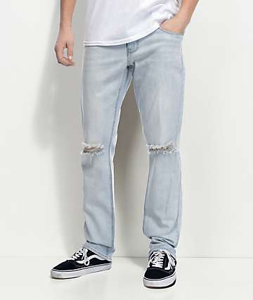 Empyre Skeletor Light Aged Ripped Skinny Fit Jeans