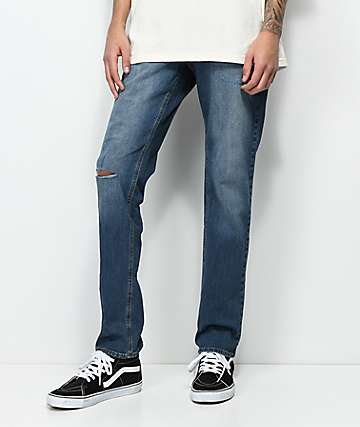 Empyre Skeletor Petty Indigo Ripped Skinny Jeans