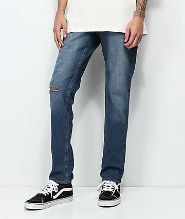 Empyre Skeletor Petty Indigo jeans ajustados con rasgadas