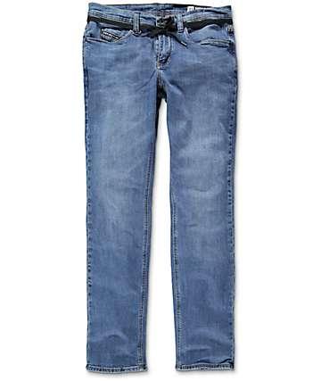 Empyre Skeletor Vintage Medium Blue Skinny Fit Jeans