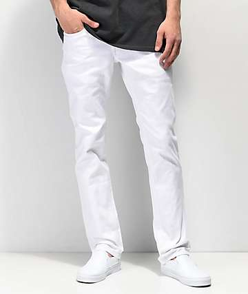 Empyre Skeletor White Denim Skinny Jeans