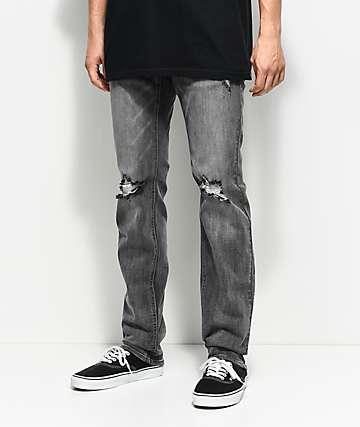 Empyre Skeletor jeans desgastados con lavado gris