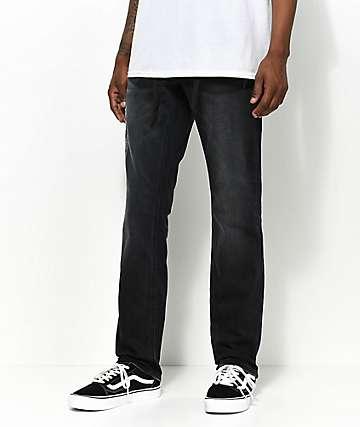 Empyre Skeletor skinny jeans en negro abyss