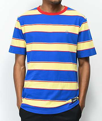 Empyre Skrrt Striped Blue & Yellow T-Shirt