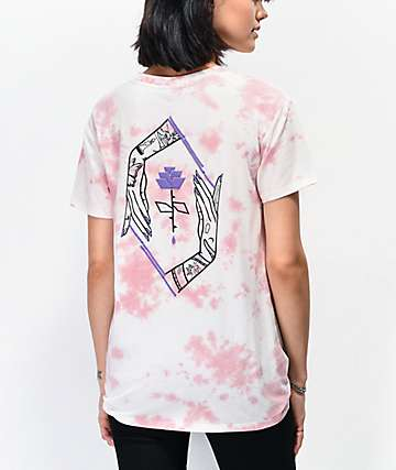Empyre Sloan Hands Rose camiseta tie dye anudada