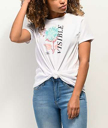 Empyre Sloane Visible White Knot Front T-Shirt