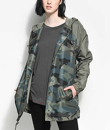 Empyre Sofi Camo Hooded Coaches Jacket
