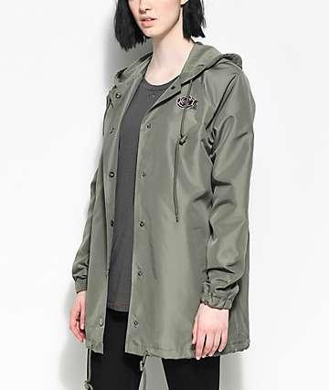 Empyre Sofi Rose Olive Hooded Coaches Jacket