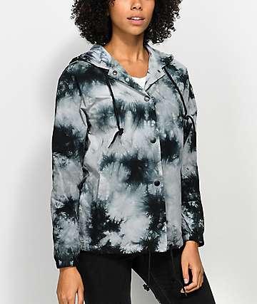 Empyre Sofiana chaqueta entrenador con efecto tie dye azul y capucha