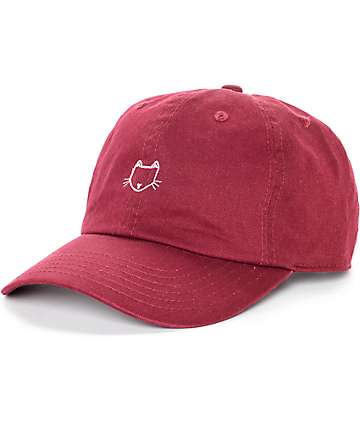 Empyre Solstice Cat gorra de béisbol en borgoña