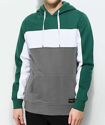 Empyre Sophomore Green, White & Grey Hoodie