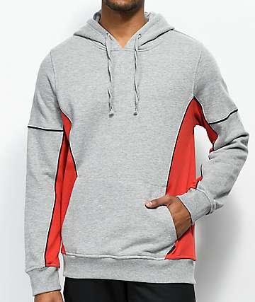 Empyre Spare sudadera con capucha en gris, rojo y negro