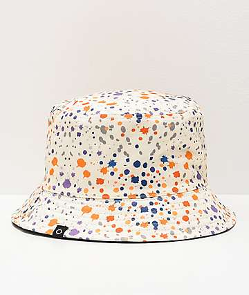 Empyre Splatter White & Black Reversible Bucket Hat