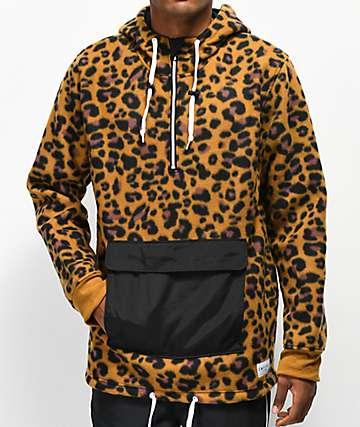 Empyre Sport chaqueta anorak de polar leopardo