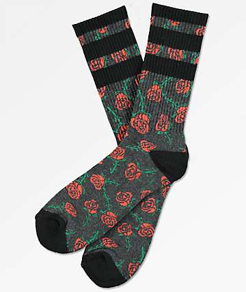 Empyre Sportzay Rose Charcoal Crew Socks