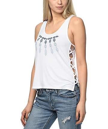 Empyre Starla Tribal camiseta blanca sin mangas