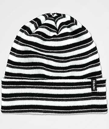 Empyre Stripe Black & Grey Beanie