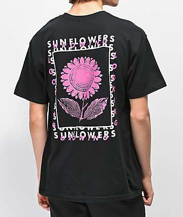 Empyre Sunflowers Black T-Shirt