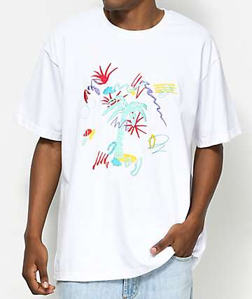 Empyre Swing Boxy Embroidered White T-Shirt