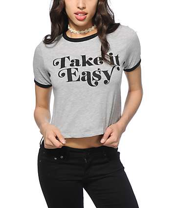 Empyre Take It Easy Crop Ringer T-Shirt