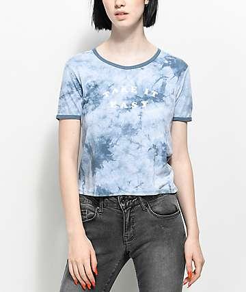 Empyre Take It Easy camiseta azul con efecto tie dye