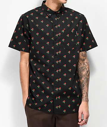 994fb2731a Empyre Tate Black Short Sleeve Button Up T-Shirt