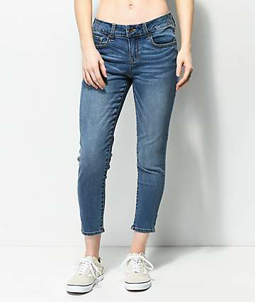 Empyre Tessa Medium Wash Crop Skinny Jeans