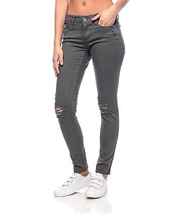 Empyre Tessa Olive Destryoed Skinny Jeans