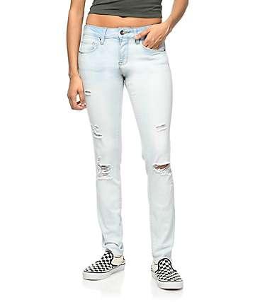 Empyre Tessa Sunbleach Destructed Skinny Jeans