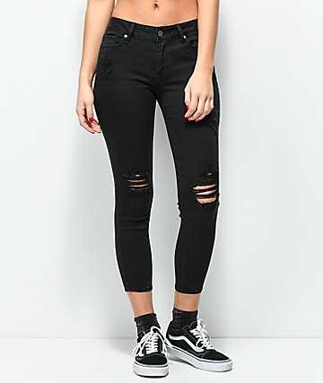 Empyre Tessa jeans negros ajustados desgastados