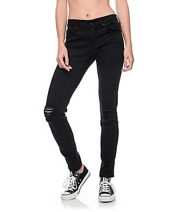 Empyre Tessa pantalones ceñidos estropeados en negro
