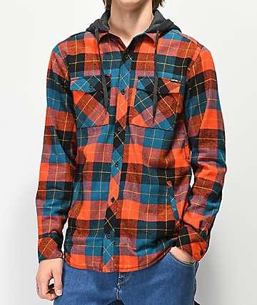 Empyre Thad camisa de franela con capucha roja y azul