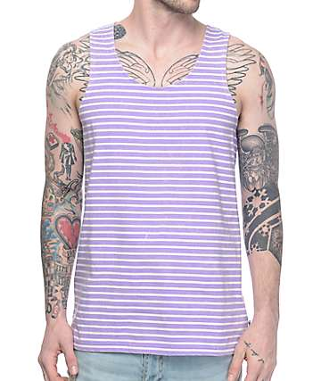 Empyre Tides Striped Purple Tank Top