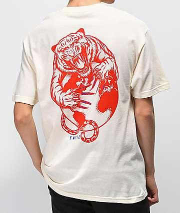 Empyre Tiger's World camiseta blanquecina