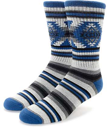 Empyre Today Tribal Grey & Blue Crew Socks